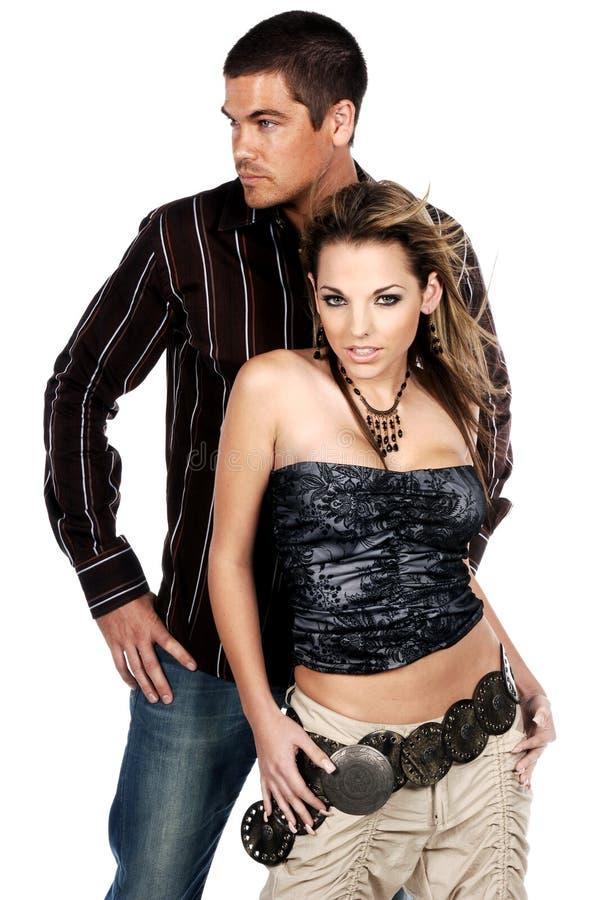 Het Paar van de glamour stock afbeelding
