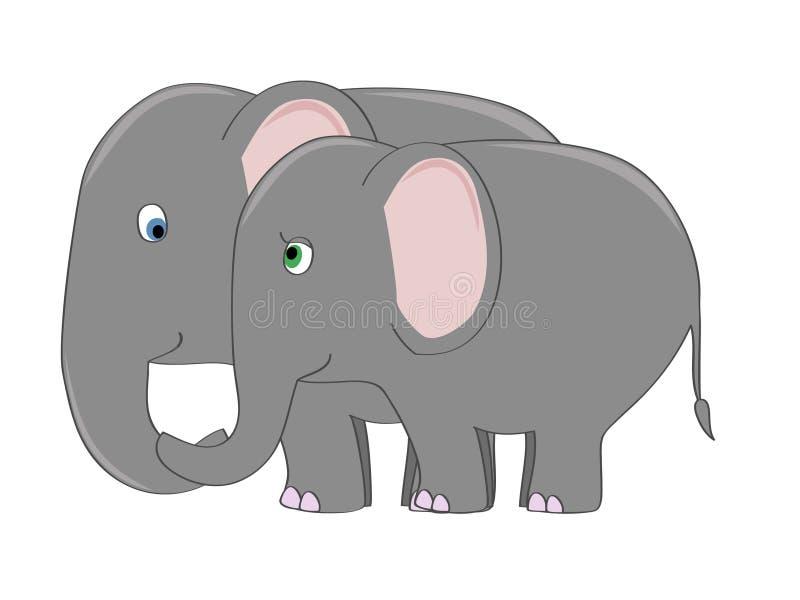 Het paar van de olifant vector illustratie