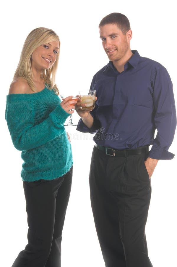 Het Paar van de partij stock fotografie