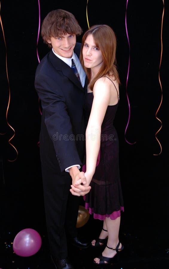 Het paar van de tiener bij dans royalty-vrije stock foto