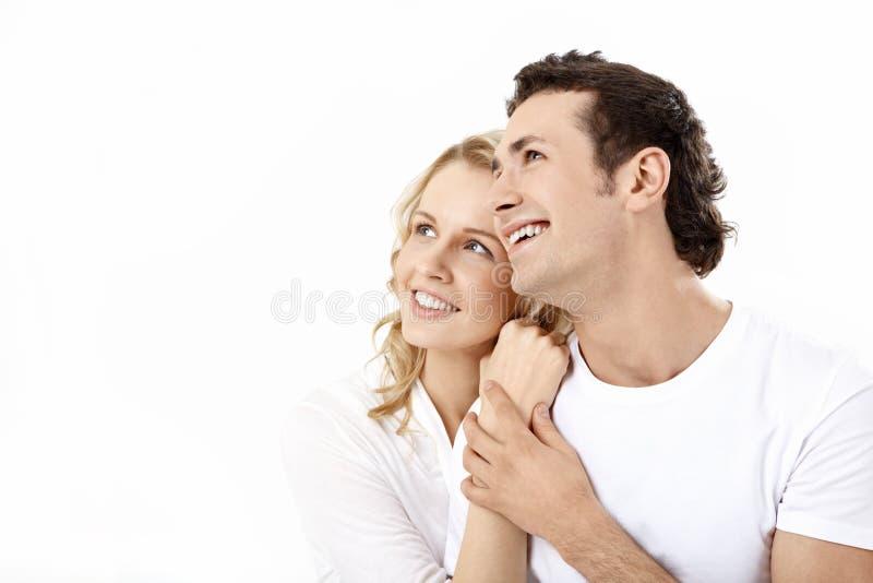 Het paar van Enamoured royalty-vrije stock afbeelding