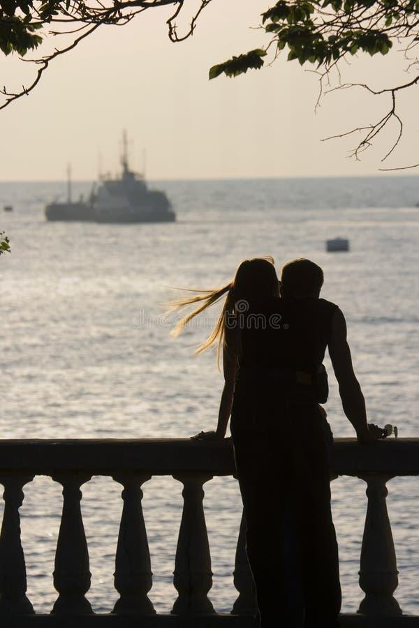 Het paar van Enamoured stock foto