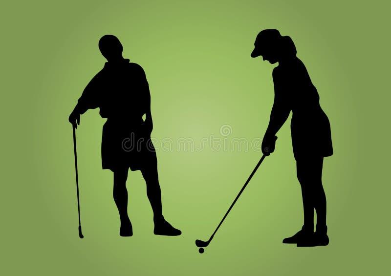 Het Paar van het golf royalty-vrije illustratie