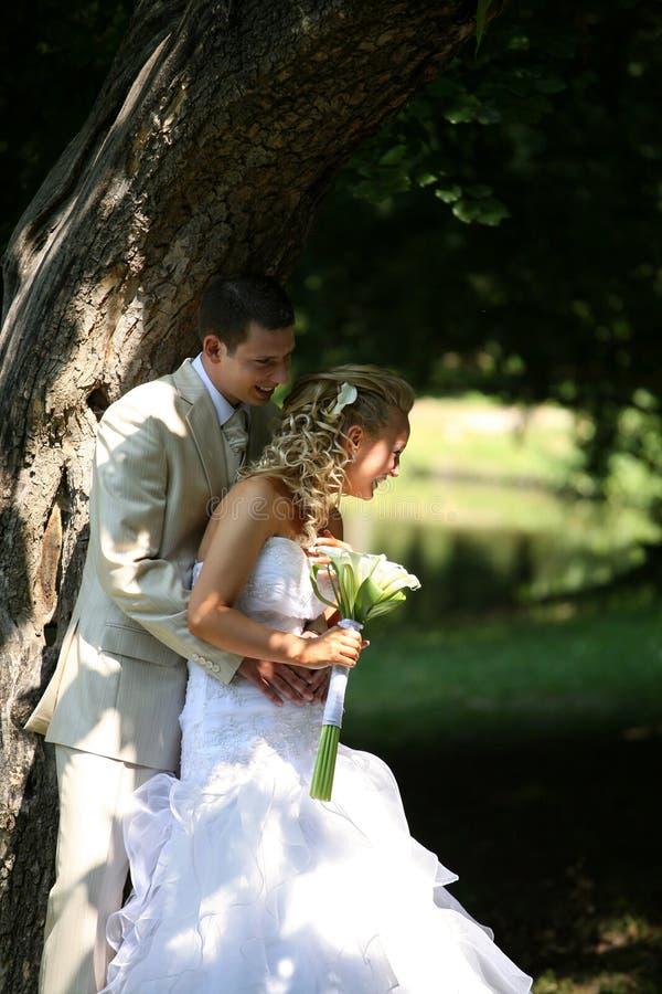 Het paar van het huwelijk stock afbeeldingen