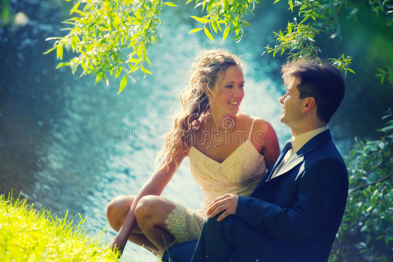 Het paar van het huwelijk royalty-vrije stock fotografie
