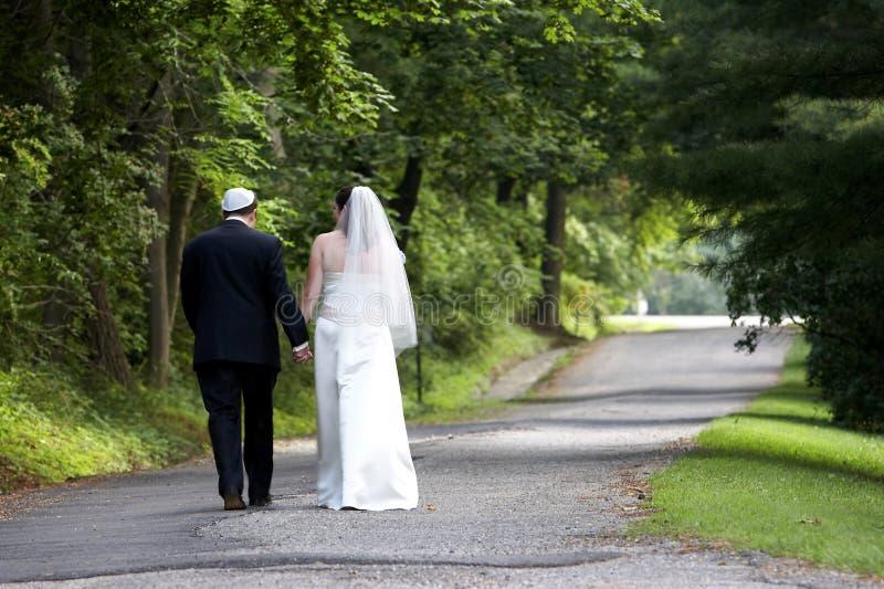 Het paar van het huwelijk - reeks stock afbeeldingen