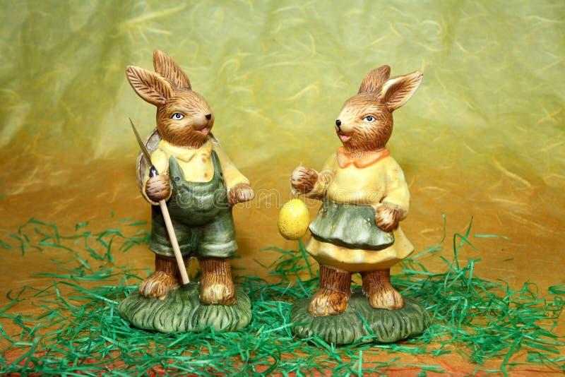 Het paar van het konijntje stock foto's