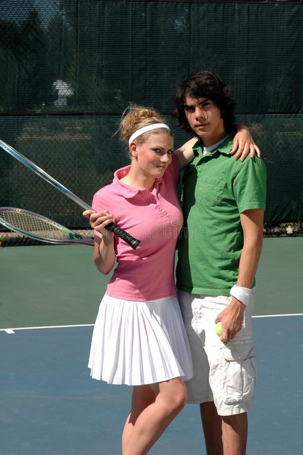 Het Paar van het tennis royalty-vrije stock afbeeldingen