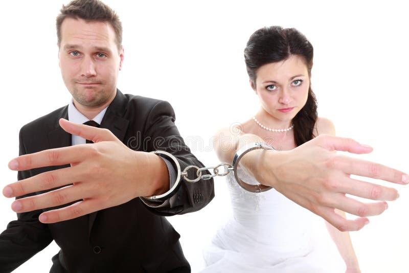 Het paar van het verhoudingsconcept in scheidingscrisis stock fotografie