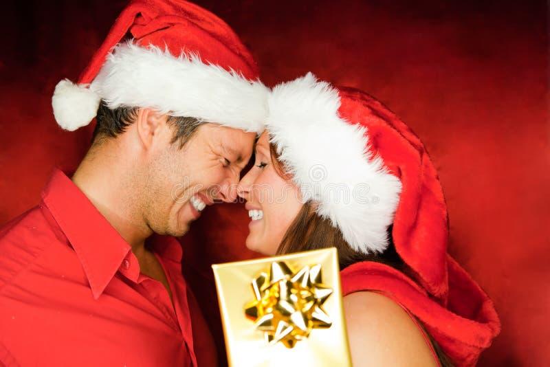 Het paar van Kerstmis royalty-vrije stock foto's