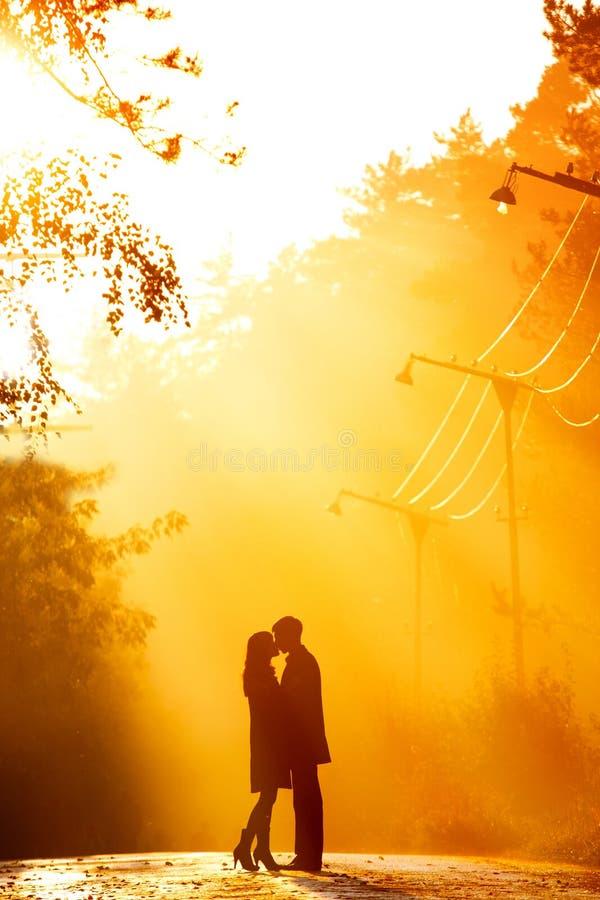 Het paar van Kisssing royalty-vrije stock foto