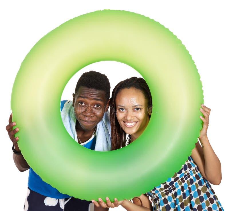 Het paar zwarte mensen van de liefde. stock foto