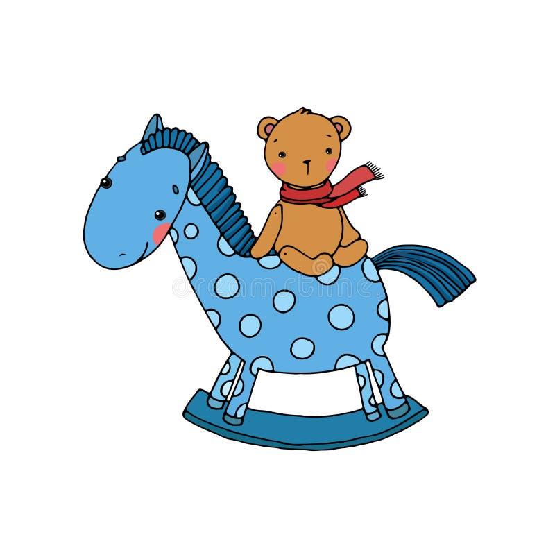 Het paard en draagt Jonge geitjesspeelgoed vector illustratie