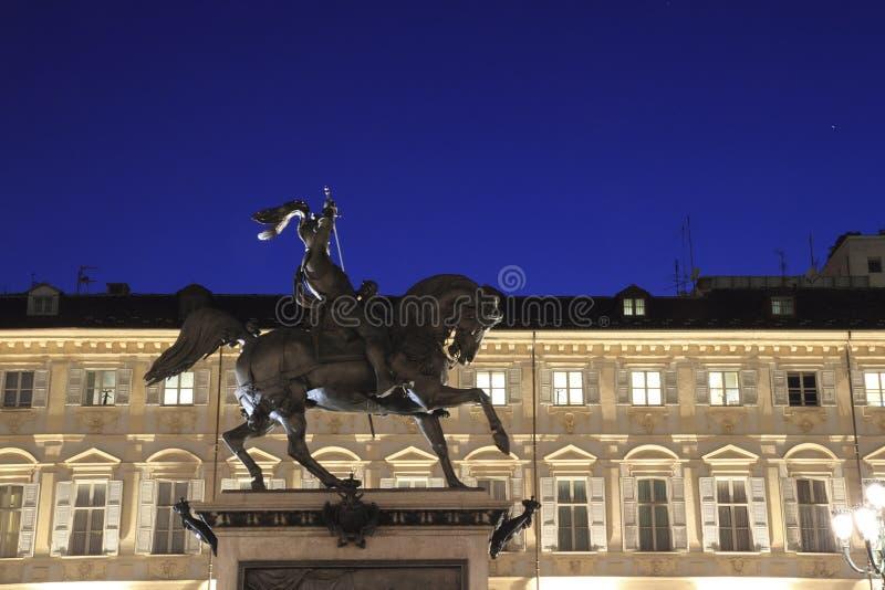 Het paard Turijn Italië van het brons royalty-vrije stock fotografie
