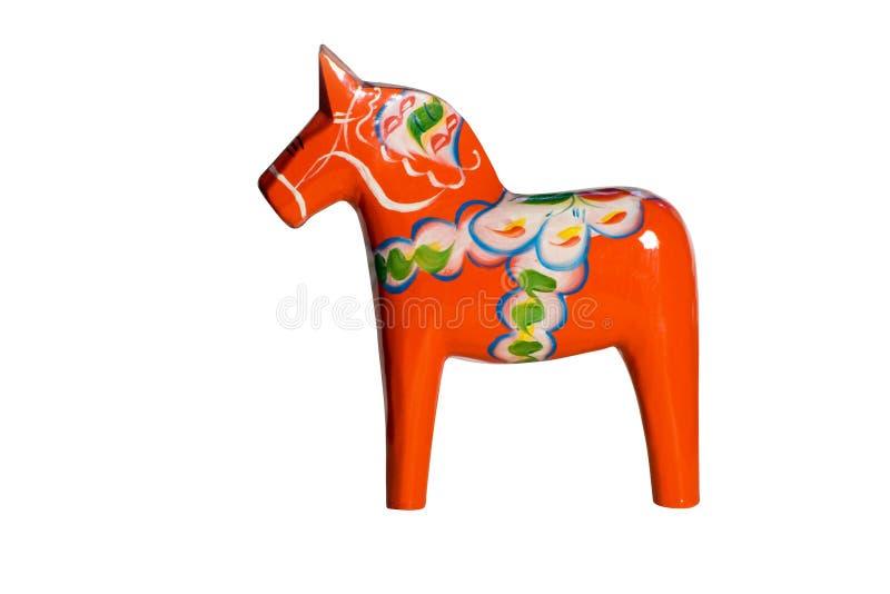 Het Paard van Dala met het Knippen van Weg stock afbeeldingen