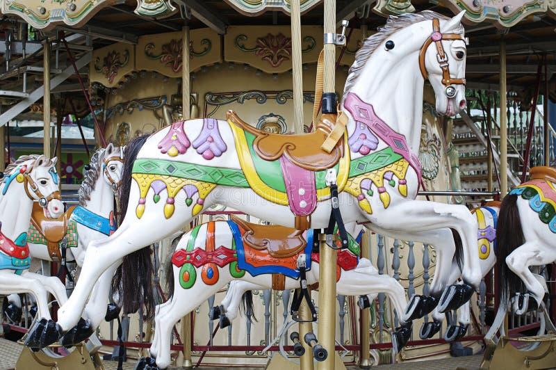 Het paard van de carrousel stock foto's