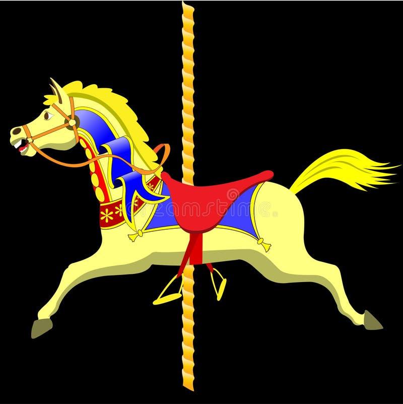 Het Paard van de carrousel royalty-vrije illustratie