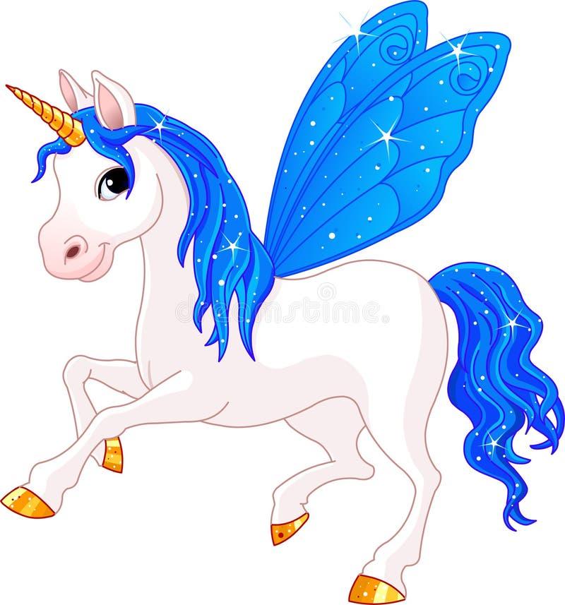 Het Paard van de Indigo van de Staart van de fee vector illustratie