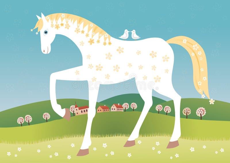 Het paard van de lente stock illustratie