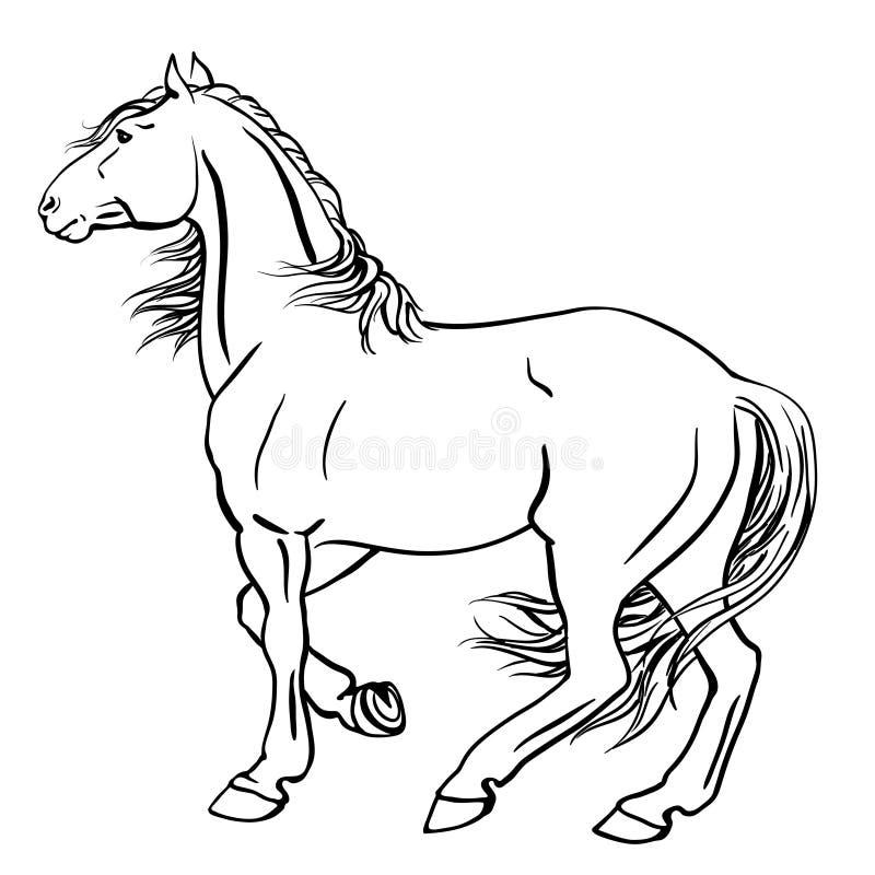 Het paard van de stempel royalty-vrije illustratie