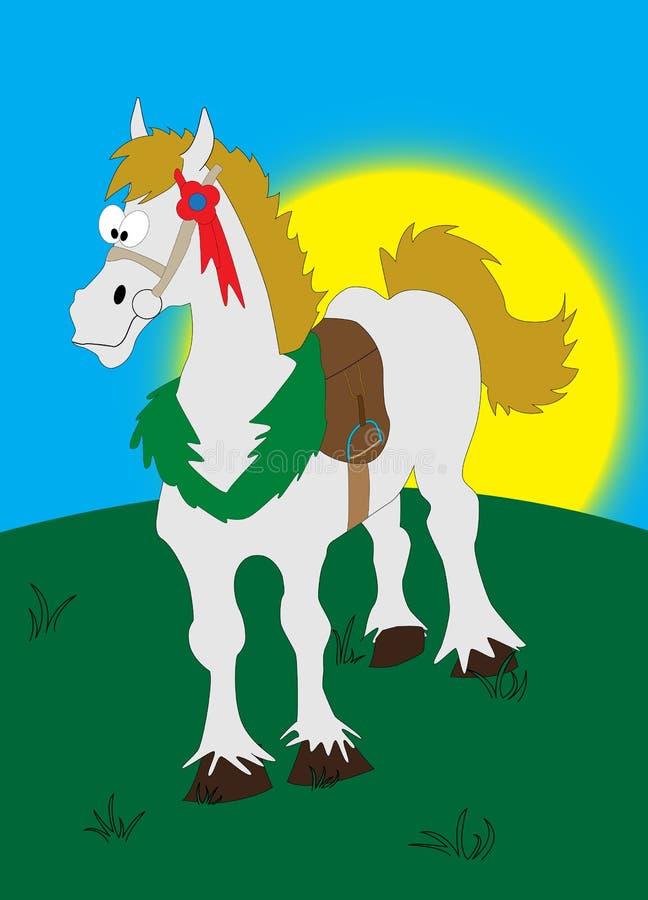 Het paard van het beeldverhaal vector illustratie