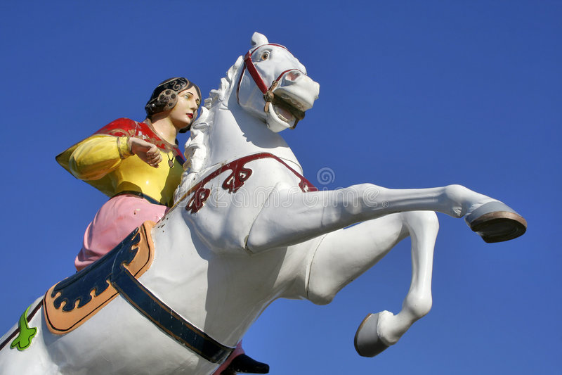 Het paard van het kermisterrein stock afbeeldingen