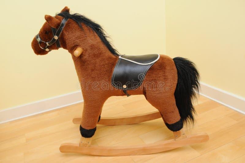 Het paard van Rocknig royalty-vrije stock afbeelding
