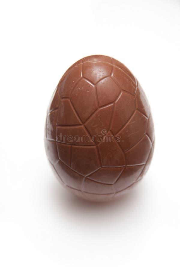 Het paasei van de chocolade stock afbeeldingen