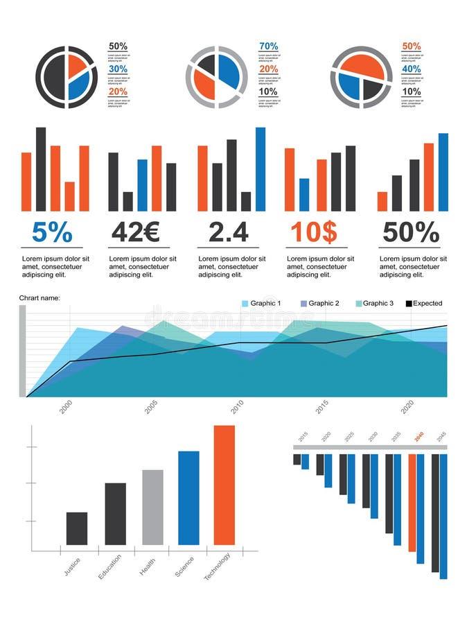Het Pak van de Elementen van Infographic v.01 vector illustratie
