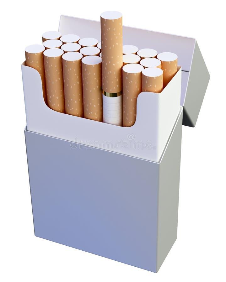 Het pak van de sigaret royalty-vrije stock foto's