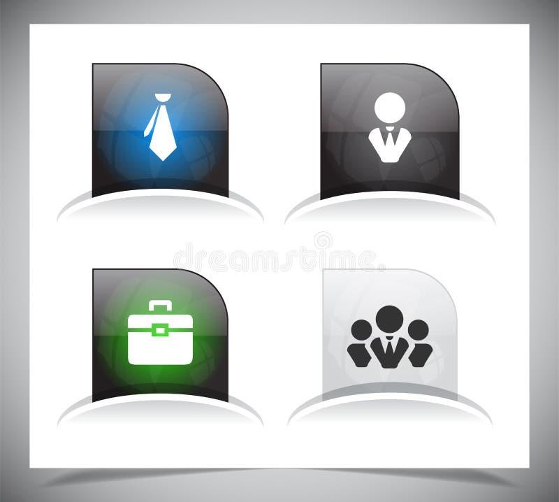 Download Het pak van Webknopen vector illustratie. Illustratie bestaande uit donker - 39106979