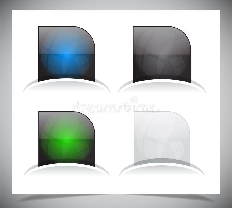 Download Het pak van Webknopen vector illustratie. Illustratie bestaande uit transparant - 39107004