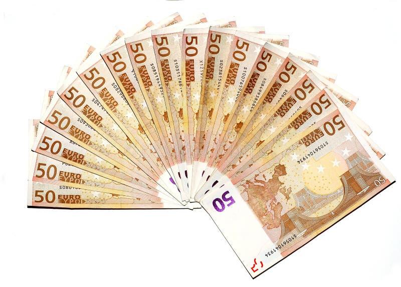 Het pakje van euro stock afbeeldingen