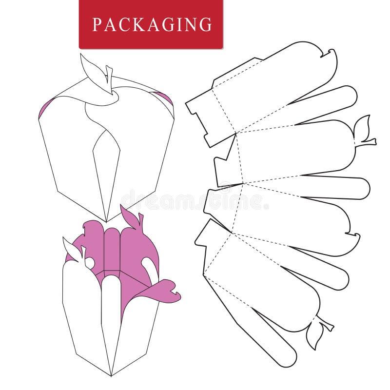 Het pakket van het fruitconcept Vectorillustratie van doos vector illustratie