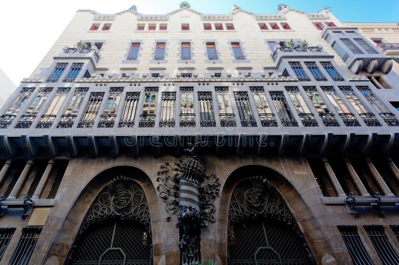 Het Paleis Barcelona Spanje van Guell royalty-vrije stock foto