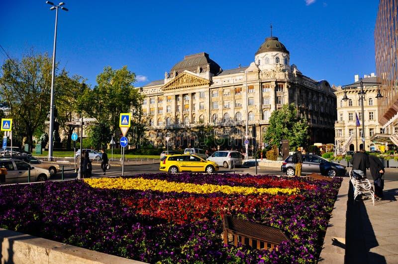 Het Paleis Boedapest van Gresham van het vier Seizoenenhotel in Boedapest, Hongarije stock afbeelding