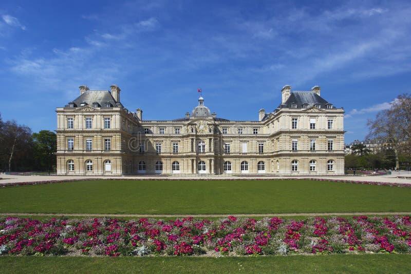 Het Paleis en de Tuin van Luxemburg in Parijs royalty-vrije stock foto