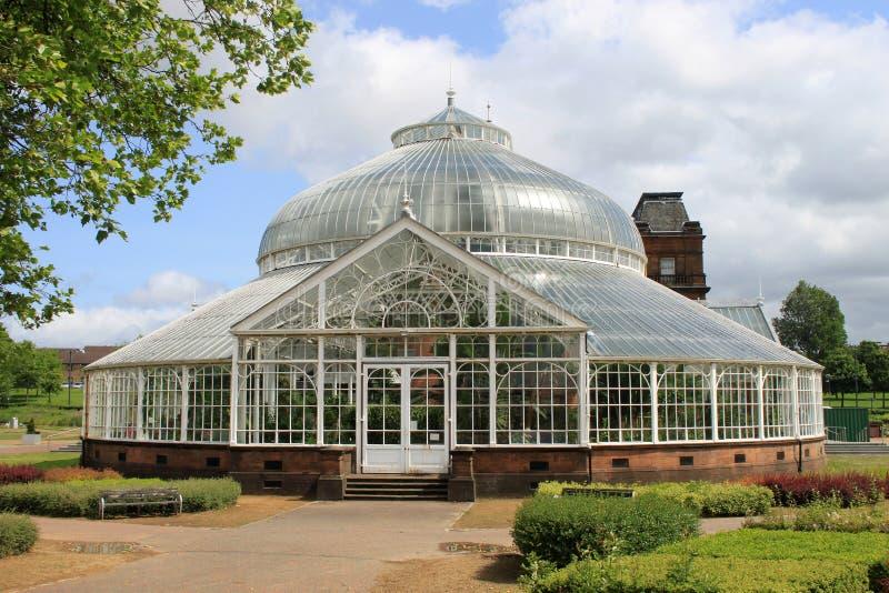 Het Paleis en de Wintertuinen van mensen, Glasgow royalty-vrije stock afbeelding