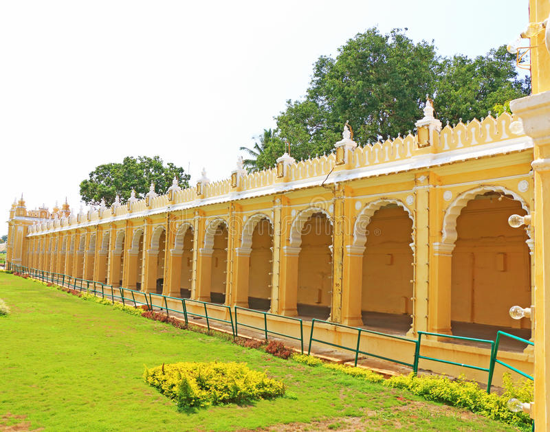Het Paleis Karnataka India van Mysore royalty-vrije stock afbeelding