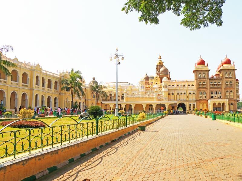 Het Paleis Karnataka India van Mysore royalty-vrije stock afbeeldingen