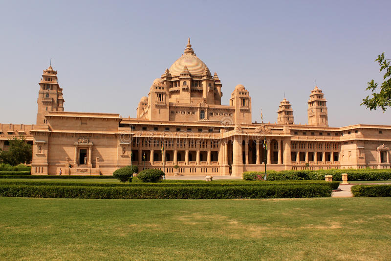 Het Paleis Taj Hotel Jodhpur Rajasthan India van Umaidbhawan royalty-vrije stock foto