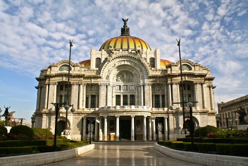 Het Paleis van Bellasartes, Mexico-City stock foto