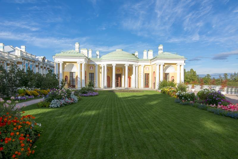 Het paleis van Catherine en park, Tsarskoe Selo, Pushkin, Heilige Petersburg, Rusland royalty-vrije stock foto's