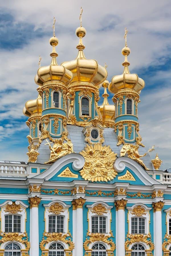 Het Paleis van Catherine in Tsarskoe Selo, Rusland stock foto
