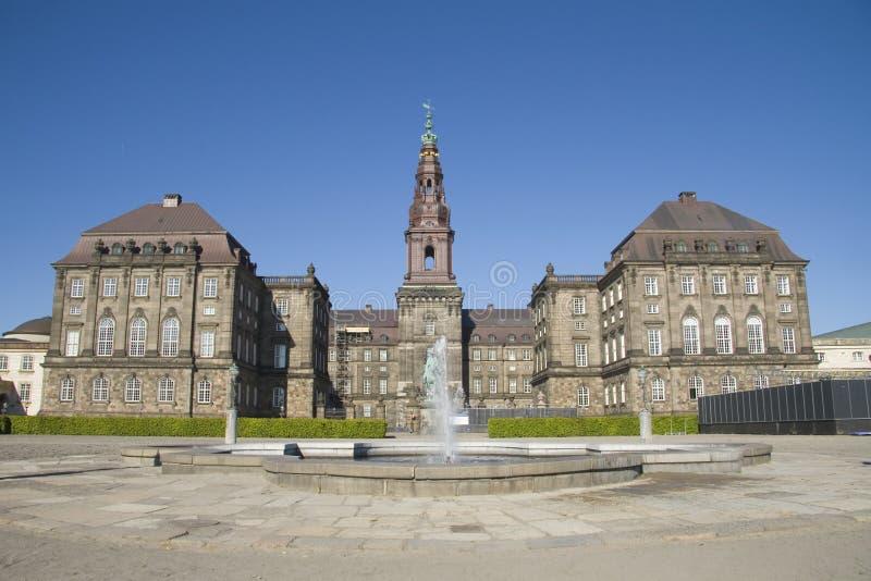 Het Paleis van Christiansborg stock afbeeldingen