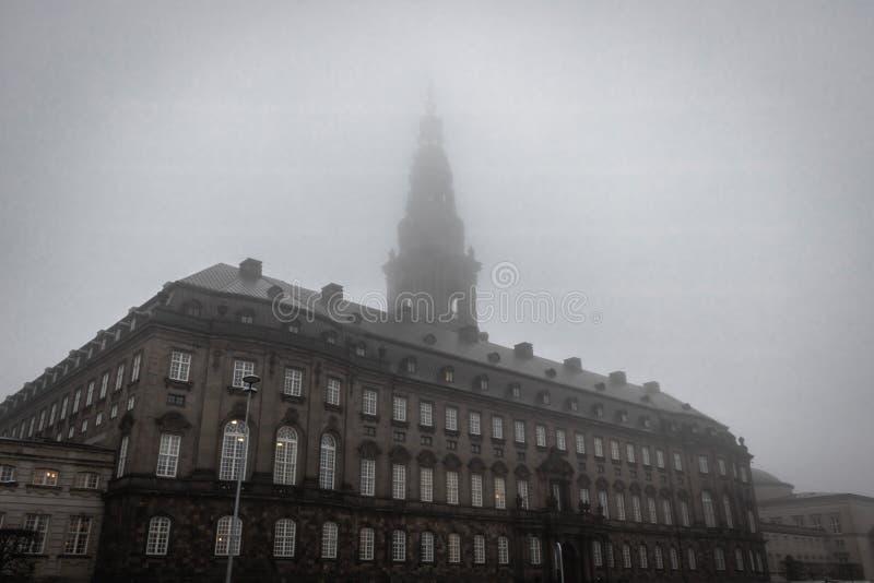 Het Paleis van Christiansborg in Kopenhagen stock afbeeldingen