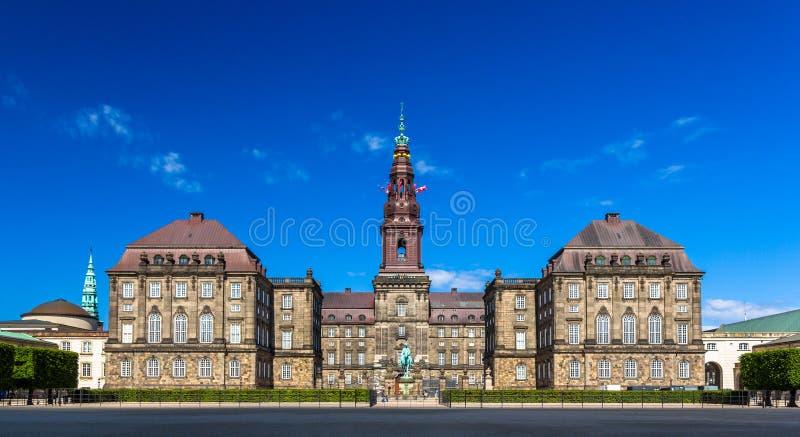 Het Paleis van Christiansborg in Kopenhagen stock fotografie