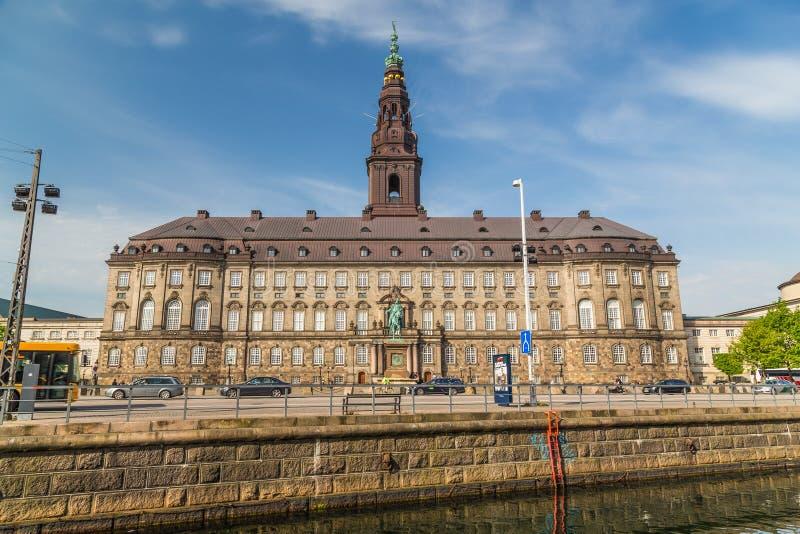 Het Paleis van Christiansborg in Kopenhagen royalty-vrije stock foto's