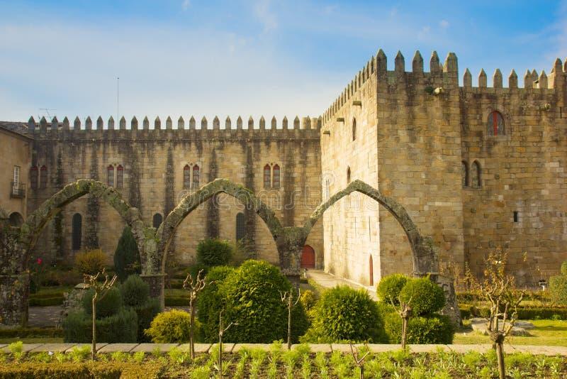 Het Paleis van de aartsbisschop, Braga, Portugal royalty-vrije stock afbeelding