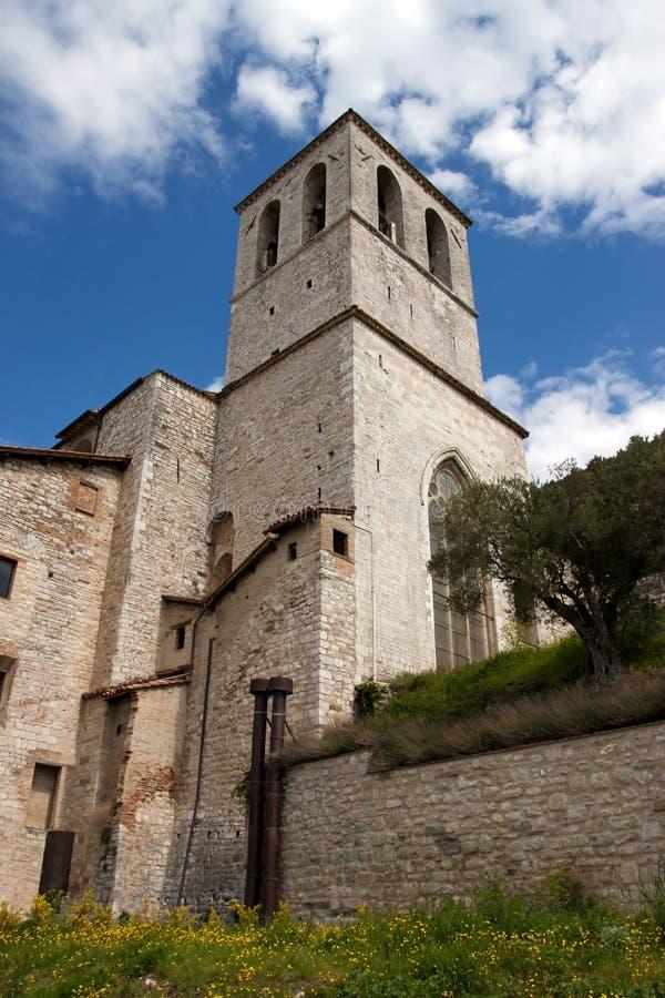 Het Paleis van de consul in het historische centrum van Gubbio royalty-vrije stock afbeeldingen
